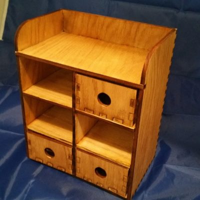 4 Tier Wooden Desktop Storage