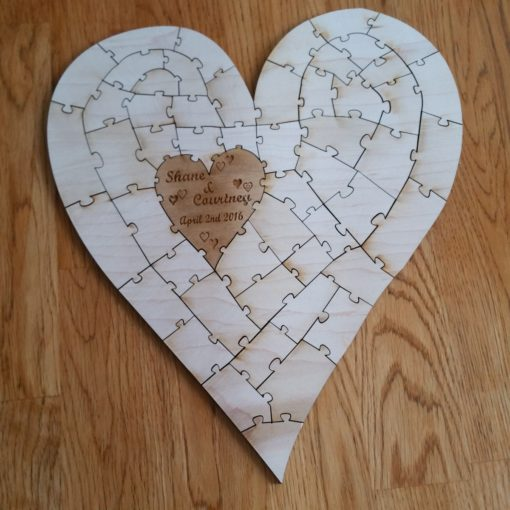 Puzzle Guest Book Heart 50pc