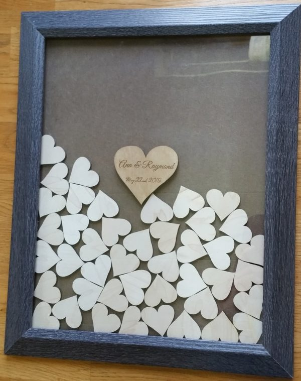 Drop Top Guest Book Black Frame