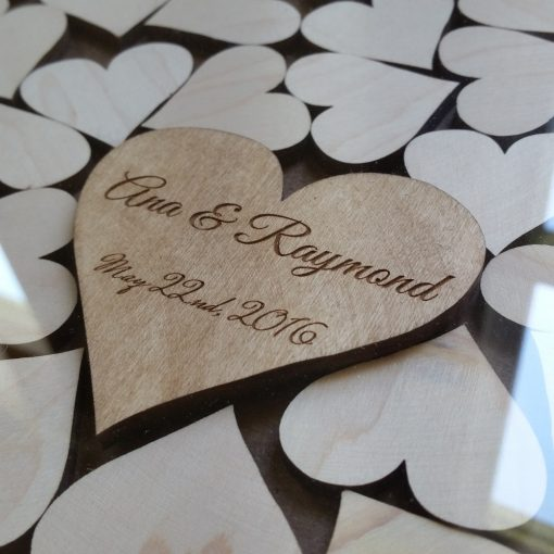 Personalized Heart Drop Top Guest Book