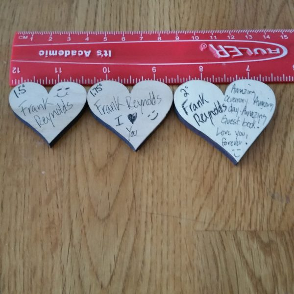 heart sizes examples