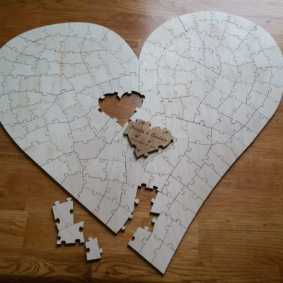 Heart Puzzle Guestbook 150pc