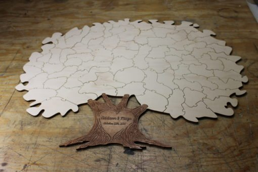 75 piece tree puzzle guest book