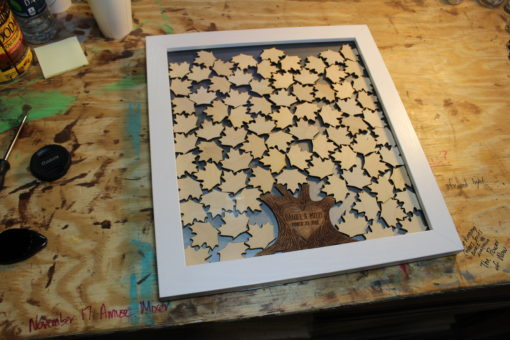 Maple Leaf Drop Top Guest Book