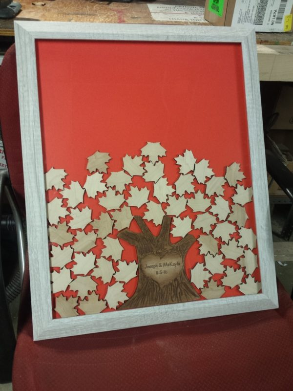 maple tree drop top guest book