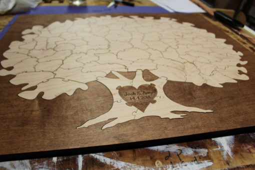 Bordered Tree Guest Book Alternative