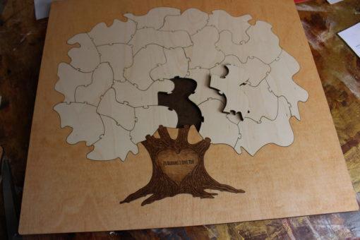 25 piece tree puzzle
