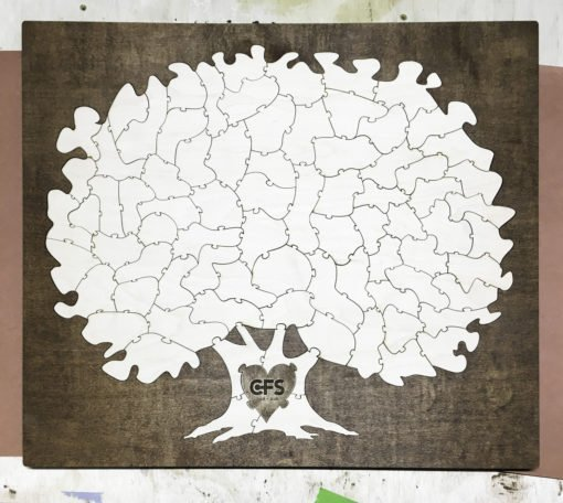 Bordered Tree Puzzle Guest Book Alternative
