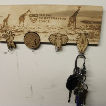 Endangered Animal Wood Key Holder