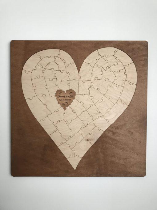 bordered heart puzzle