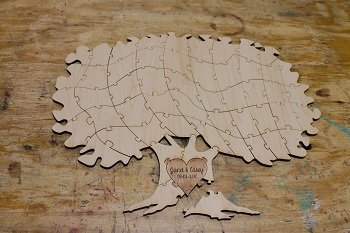 tree puzzle guest book