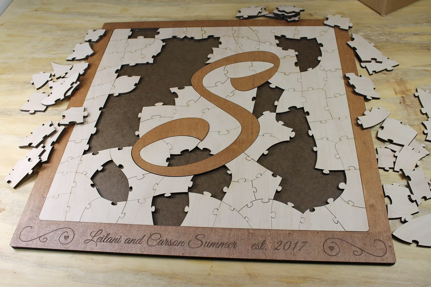 bordered letter puzzle guest book alternative