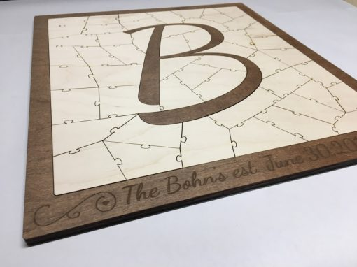 Letter B Wedding Puzzle Guest Book