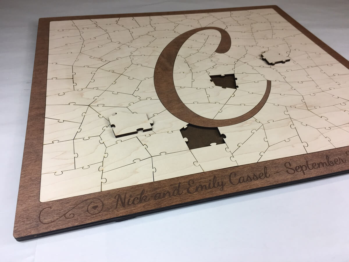 Letter Puzzle Guest Book Alternative
