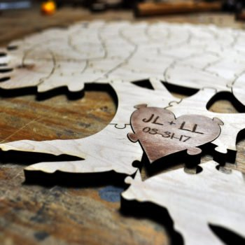 Personalized Wood Tree Puzzle Guest Book