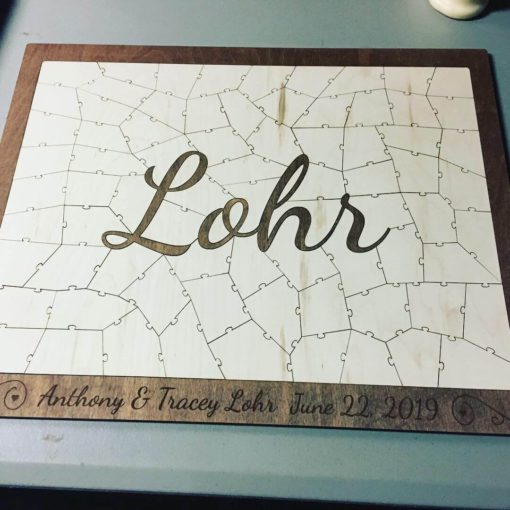 Personalized Wood Wedding Name Puzzle
