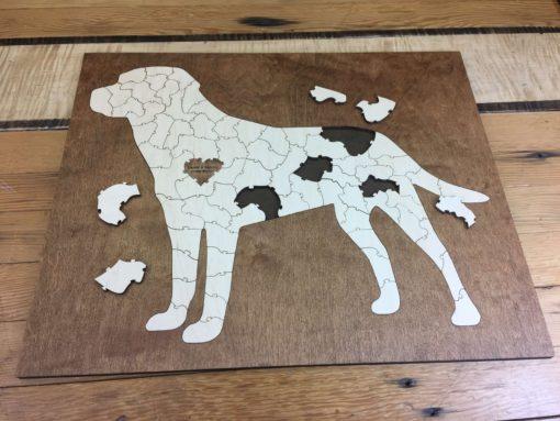 Bordered Lab Dog Puzzle