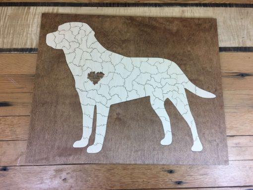 Bordered Lab Dog Puzzle 75pc