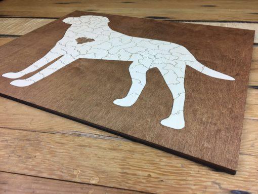 Framed Wooden Lab Dog Puzzle