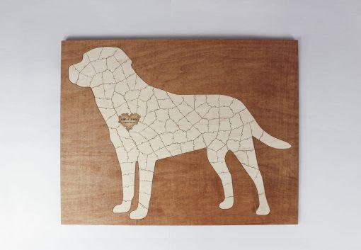 large dog framed puzzle