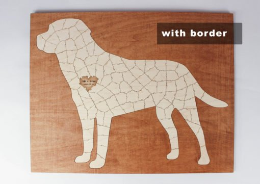 dog puzzle guest book with border