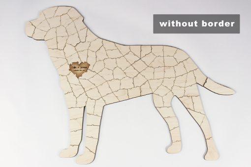 dog puzzle without border
