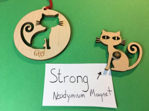Custom Cat Ornament and Magnet