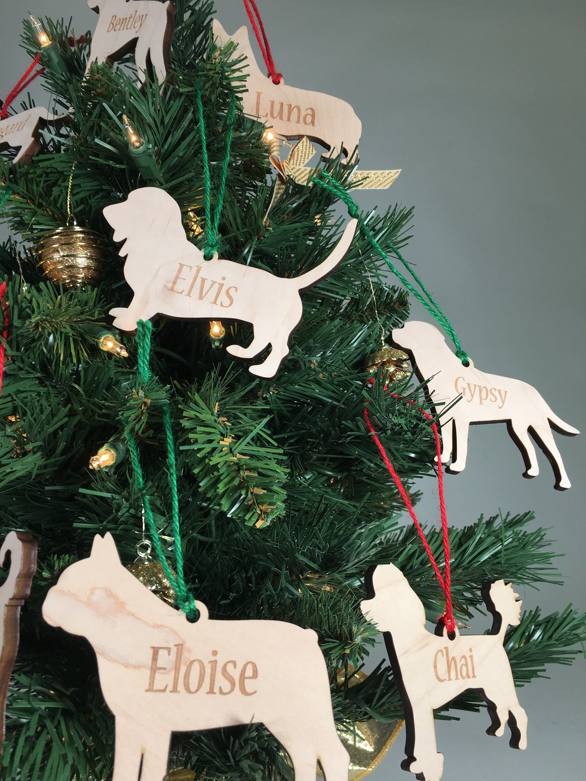 Personalized Wood Dog Christmas Ornaments | Havoly