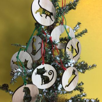 DIY Cat Cutout Christmas Ornaments
