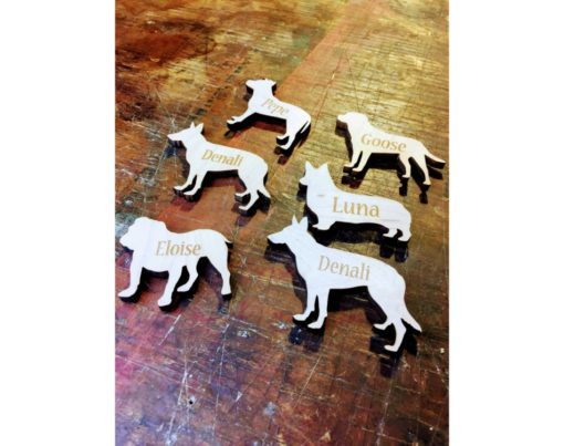 Personalized Wooden Dog Ornaments & Magnets
