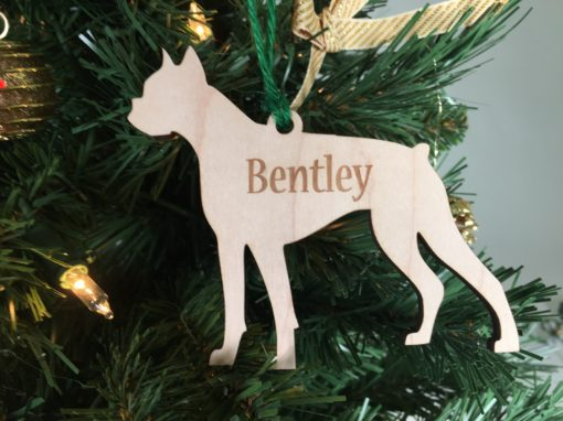 Personalized Boxer Dog Ornament