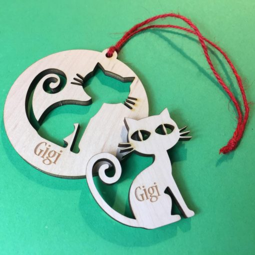 Personalized Cat Ornament and Magnet