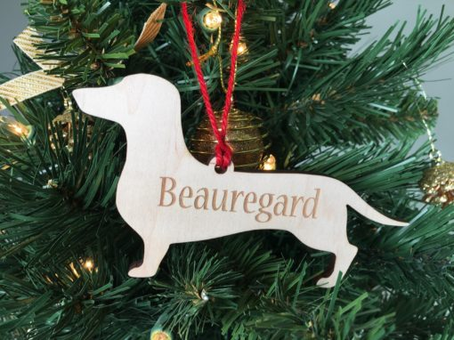 Personalized Dachsund Christmas Ornament