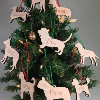 Personalized Dog Breed Christmas Ornaments