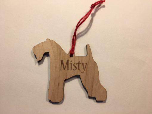 Personalized Kerry Blue Terrier Christmas Ornament