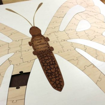 butterfly custom engraved puzzle