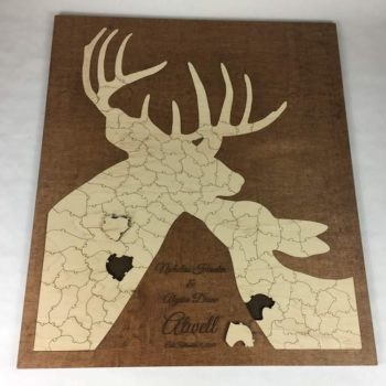 deer puzzle wooden alternative guest book