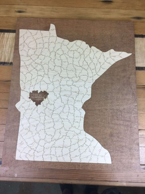Wooden State Puzzle