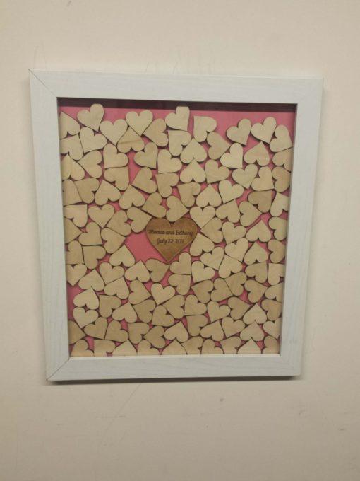 Whit frame Pink BR Heart DT