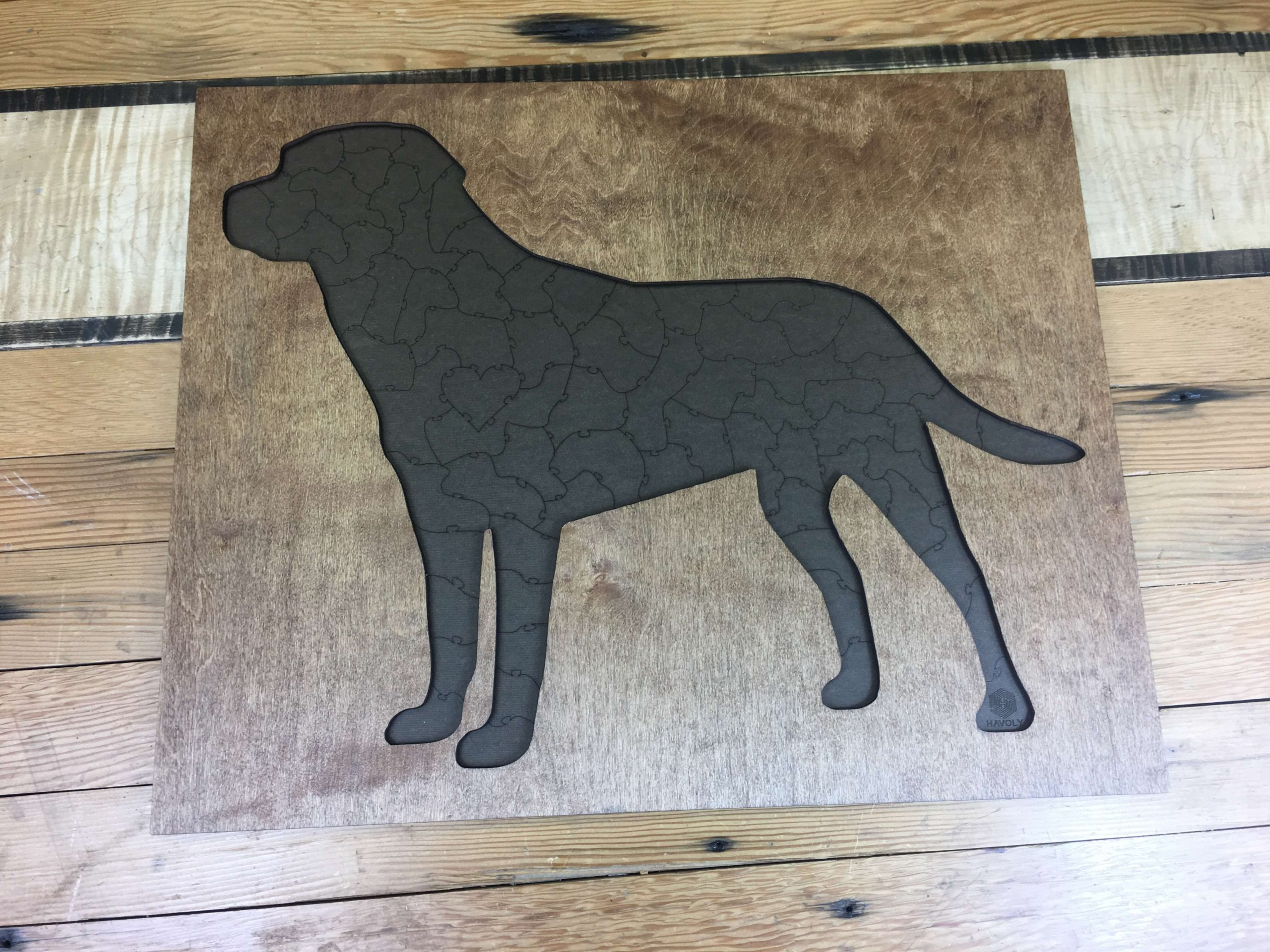 Black Lab Dog laser cut and engraved wood Magnet Great Gift Idea